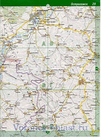 Карта автодорог - Лискинский