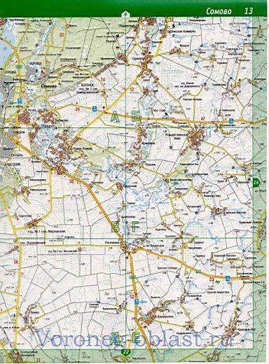 Подробная карта водоемов